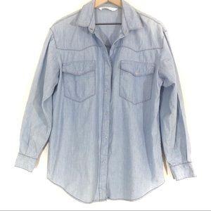 Zara | Chambray Shirt with Folded Pockets